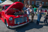 Crowds enjoyed the wide variety of beautiful cars and trucks during the car show at Oktoberfest 2015.