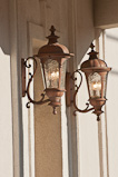 Decorative lamps at Old Munichburg store entrance